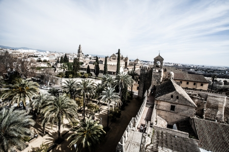 View of Alcazar and Cathedral Mosque of Cordoba, Spain  photo