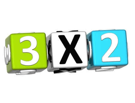 3D Three For Two Button Click Here Block Text over white background  photo