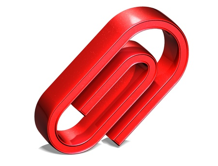 3D Clip Red Sign on white background Stock Photo - 18140810
