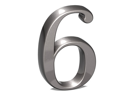 3D Set Silver Number on white background photo