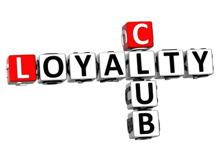 3D Club Loyalty Crossword on white background photo