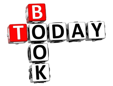 3D Book Today Crossword on white background photo