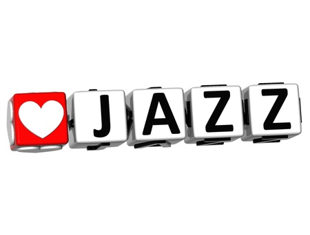 wariety: 3D Love Jazz Button Click Here Block Text over white background