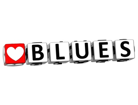 3D Love Blues Button Click Here Block Text over white background Stock Photo - 18247287