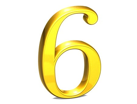 3D Set Gold Number on white background  photo