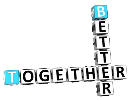 3D Better Together Crossword on white background photo