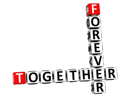 3D Forever Together Crossword on white background photo