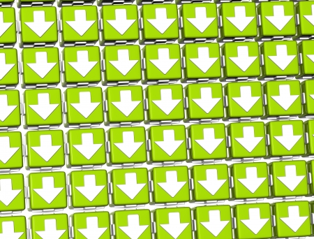 3D White Sign Arrows in green blocks photo