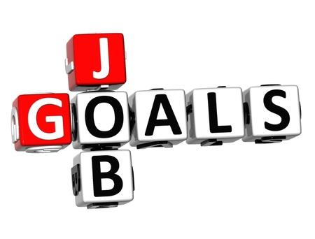 3D Job Goals Crossword on white background Stock Photo - 18702686