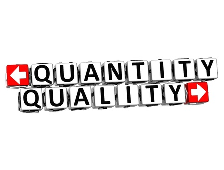 quantity: 3D Quantity Quality Button Click Here Block Text over white background