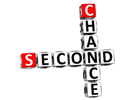 3D Second Chance Crossword on white background Stock Photo - 18702684