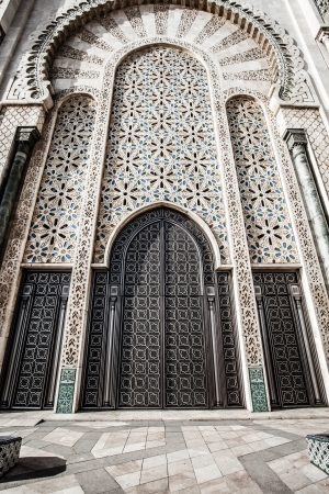 prayer tower: The Mosque of Hassan II in Casablanca, Africa