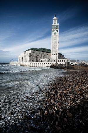 The Mosque of Hassan II in Casablanca, Africa photo