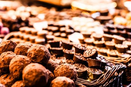 Famous sweet candy market in Barcelona, Spain
