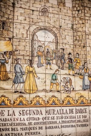 trencadi: Ceramics in Barri Gotic in Barcelona