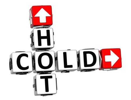chaud froid: 3D crois�s Chaud Froid sur fond blanc