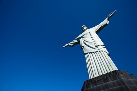 rio: Christ the Redeemer statue in Rio de Janeiro in Brazil