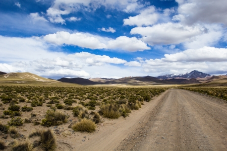 altiplano: A desert on the altiplano of the andes in Bolivia  Stock Photo