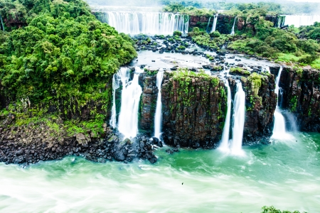 fissure: Iguassu Falls, the largest series of waterfalls of the world, view from Brazilian side