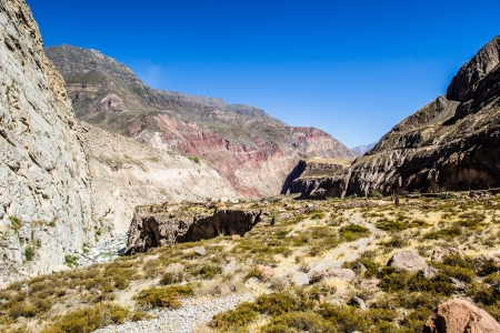 Peru, Cotahuasi canyon. The wolds deepest canyon. photo