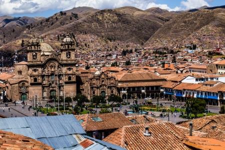 cuzco: General view of the city of Cuzco, Peru