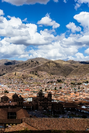 urubamba valley: General view of the city of Cuzco, Peru