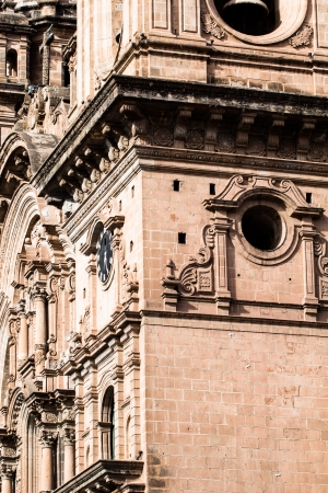 plaza of arms: Cathedral in the city of Cuzco, Peru