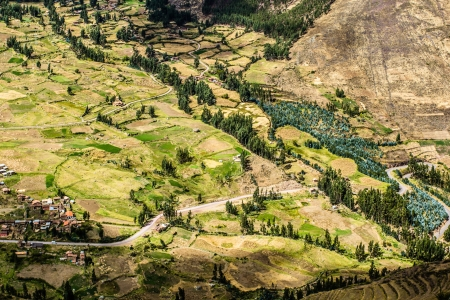 sacred valley: Peru, Pisac (Pisaq) - Inca ruins in the sacred valley in the Peruvian Andes