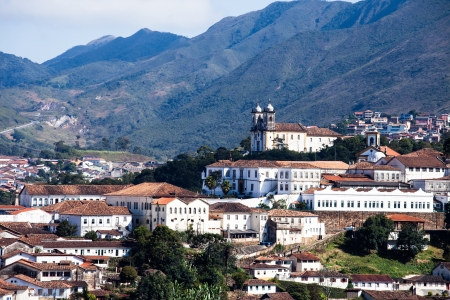 senhora: View of the   city of Ouro Preto in Minas Gerais Brazil  Stock Photo