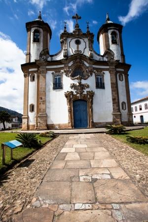 View of the Igreja de Sao Francisco de Assis of the  city of ouro preto in minas gerais brazil  Stockfoto