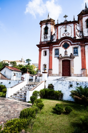 senhora: View of the city of Ouro Preto in Minas Gerais Brazil