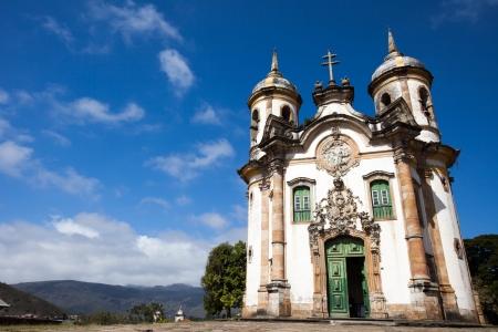 View of the Igreja de Sao Francisco de Assis of the city of ouro preto in minas gerais brazil