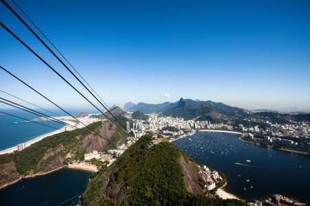 The cable car to Sugar Loaf in Rio de Janeiro photo