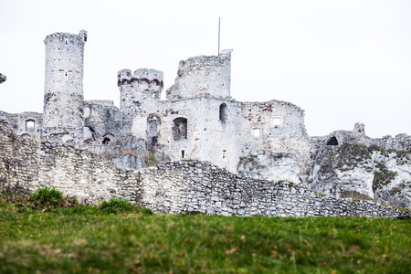 The old castle ruins of Ogrodzieniec fortifications, Poland.