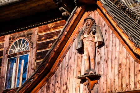 zakopane: Traditional polish wooden hut from Zakopane, Poland.