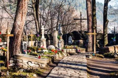 na: Old cemetery Na Peksowym Brzyzku in Zakopane in Poland