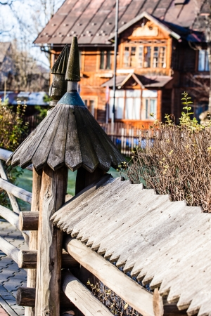 penury: Traditional polish wooden hut from Zakopane, Poland.