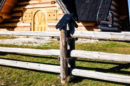 paucity: Traditional polish wooden hut from Zakopane, Poland.