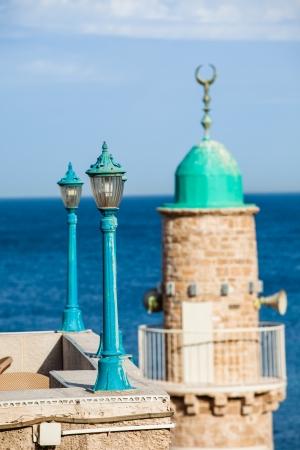 Sea mosque in the ancient Jaffa photo