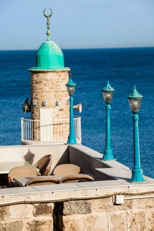yaffo: Sea mezquita en la antigua Jaffa
