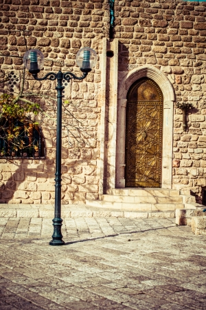 The old streets of Jaffa, Tel Aviv, Israel  photo