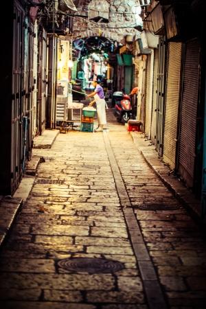 jewish quarter: Ancient Alley in Jewish Quarter, Jerusalem, Israel. Editorial