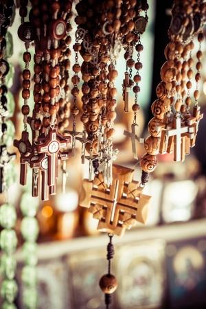 Traditional souvenirs. Via Dolorosa street market, Jerusalem Old City, Israel. photo