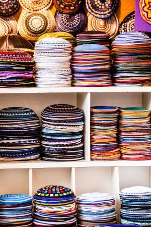yarmulke: Yarmulke - traditional Jewish headwear, Israel.