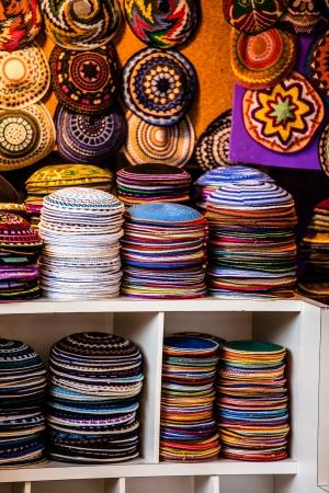 ide: Yarmulke - traditional Jewish headwear, Israel.