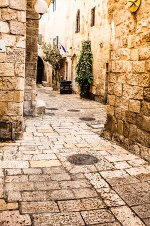 jewish quarter: Jewish Quarter Streets on Jerusalem Old City.  Stock Photo