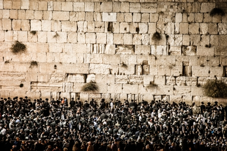 the western wall: Prayers at the Western Wall, Jerusalem, Israel.