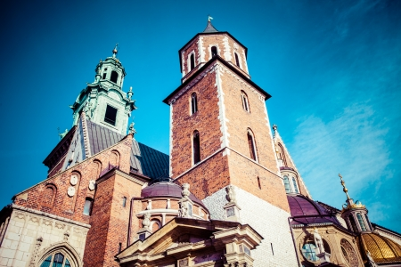 wawel: Wawel Cathedral (The Cathedral Basilica of Sts. Stanislaw and Vaclav) - famous Polish landmark on the Wawel Hill in Cracow