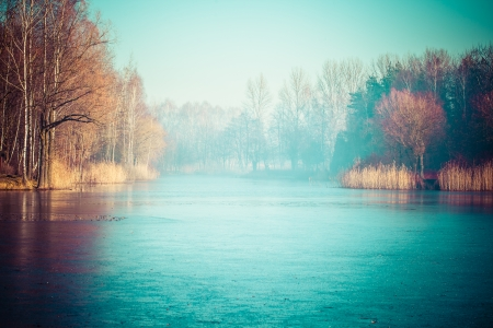 Typical autumn in Poland.  photo