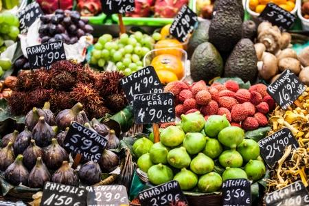 boqueria: Fruits market, in La Boqueria,Barcelona famous marketplace